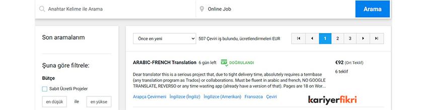 freelancer çeviri